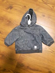 Manteau jean  6-12 mois