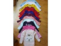 12 long sleeve girls tops 2-3 years