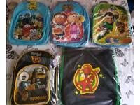 5 Brand new boys backpacks/ Bags
