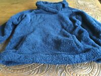 Cuddly blue ladies fleece