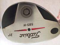 Left Handed Titleist 21 degree Hybrid 585.H with Regular Flex Shaft