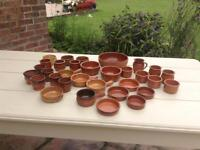 Terracotta Tapas Dishes over 30 pieces