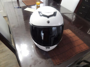 white can am helmet new
