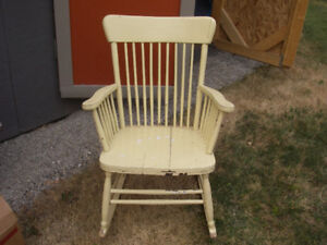 1950's Painted Rocking Chair