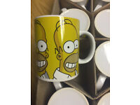 36 x Wholesale Joblot Simpsons Tea Coffee Designer Mug Tableware Glass
