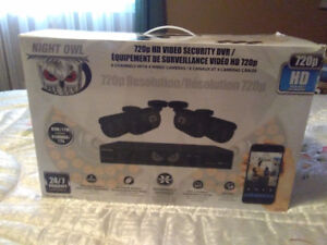 BRAND NEW IN BOX NIGHT OWL CAMERA SECURITY SYSTEM WITH DVR & HDD