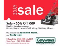 MOUNTFIELD LAWNMOWERS 20% OFF SALE!!!