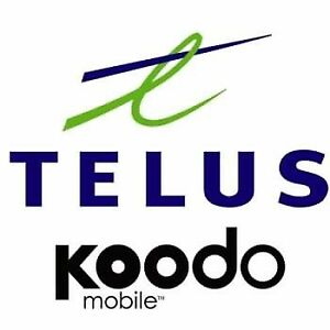 TELUS OR KOODO CANADA OR USA PLANS AVAILABLE