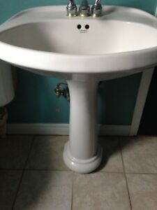 White Pedestal Sink