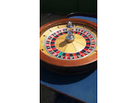 Full Size John Huxley American Roulette Wheel in good condition, including cover