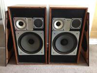 Wharfedale Glendale 3XP Vintage 1970's Stereo Loud Speakers Retro HiFi
