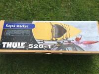 Kayak roof rack stacker
