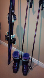 Women's Ski Package Size 10 Boots