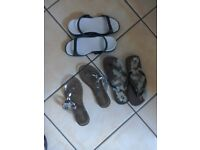 Beach sandals 3pair size 4 all new.i