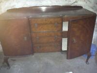 dark wooden sideboard