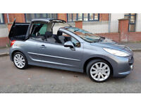 ONLY 58000 MILES,PEUGEOUT 2007 207CC,CONVERTIBLE,tt,mr2,mx5,boxster,st,mini,astra,golf,leon,320d,m3