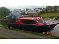 Boat for sale on lancaster canal.