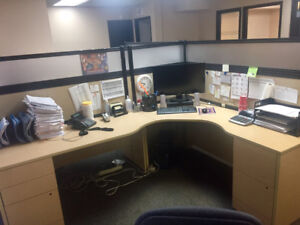 2 Large Office Cubicles for Sale