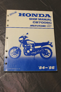 '84-'86 Official Honda Shop Manual CB750SC Nighthawk S