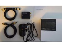 Digital to Analogue Audio Converter and Toslink Cables