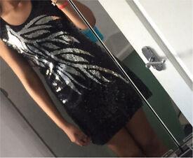 Black & sliver bodycon dress