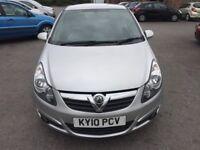 Vauxhall Corsa 1.2 i 16v SXi 3dr2010 (10 reg), Hatchback(30days warranty)£2499