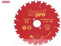 FREUD 190MM X 30MM X 24 TEETH PRO TCT CIRCULAR SAW BLADE LP30M015 F03FS03658