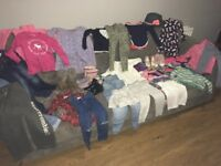 Bundle of clothes and shoes age 4 to include Abercrombie , hilfiger, Zara