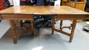 Old Solid Wood Farm Table