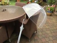Umbrellas (2), clear unused ideal wedding or special funtions
