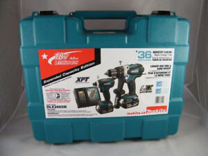 "NEW Makita 18v DLX2005LXT Hammer Drill and ¼"" Impact Driver $320"