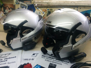 Shark Evoline Helmets With Bluetooth headsets for Goldwing