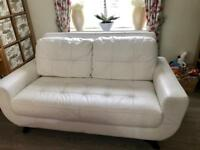 White Leather sofa suite, needs to go asap
