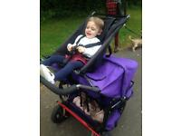 ABC ADVENTURE TRIPLE PUSHCHAIR BUGGY - CONVERTS TO DOUBLE / TWIN
