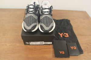 Y-3 pure boost zg knit white black SZ US 9
