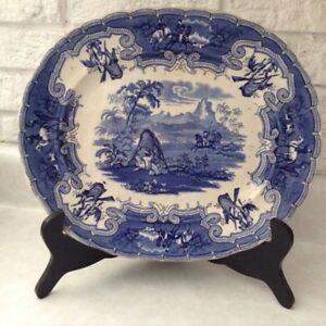 Antique Transferware Platter - The Chase