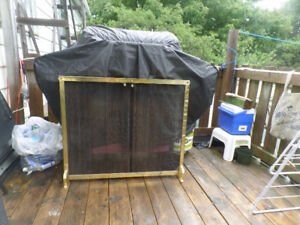 Fireplace Screen Gold Color