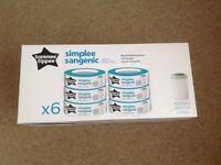 Tommee Tippee simply sangenic nappy bin refills