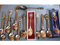 joblot of collectible spoons
