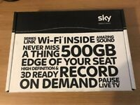 Sky+ HD 500gb Box + 3x Remotes + Magic Eye for viewing on 2nd TV