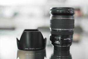Canon EF-S 17-55mm F/2.8 IS USM & EW-83j hood
