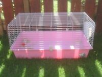 RABBIT CAGE INDOOR WITH FOOD DISH AND HAY RACK £20