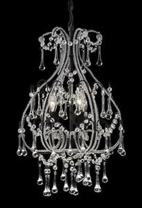 Gorgeous 3-Light Crystal Chandeliers by Kuzco – ONLY 2 LEFT!!