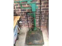 Antique railway weighing scales