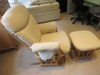 Dutalier Nursing Chair and Footstool (Beige)