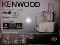 Kenwood food processor+blender FDP613WH still sealed and unopened RRP £99