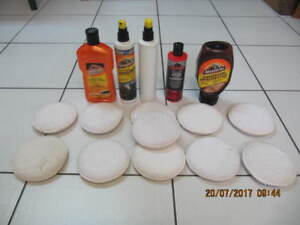 16 piece Lot Of Armour All Buffing Pads and DetailingAccessories