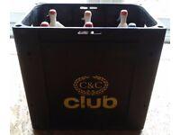 5 x vintage beer crates / soda syphon crates - upcycle, man cave, shop displays
