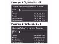 £49 Flight to Majorca arriving late evening September 5th returning early morning on September 9th