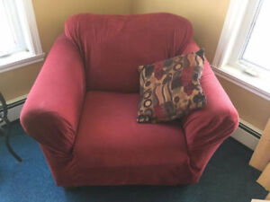 Burgundy Arm Chair